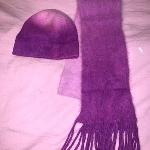 Shades of Purple Matching Hat and Scarf Set